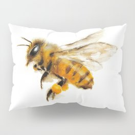 Honey Bee collecting pollen Pillow Sham