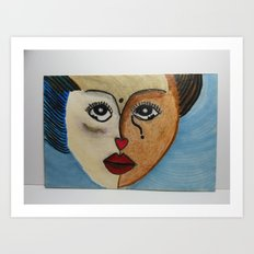 Andrea -  Abused Yet Rising Above Her Bruises Art Print