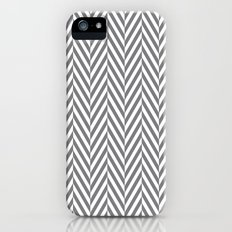 Grey Herringbone Slim Case iPhone (5, 5s)