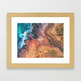 Red Bluff National Park - Kalbarri - Western Australia Framed Art Print