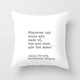 Emily Bronte quote Throw Pillow