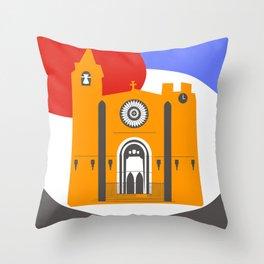 Noia, a beautiful town in Galicia Throw Pillow