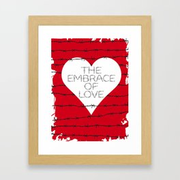 The embrace of love Framed Art Print