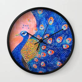 Peacock - I'm Beautiful (And I Know It) Wall Clock