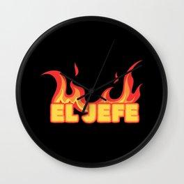 BBQ Smoker El Jefe Wall Clock