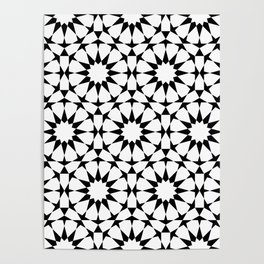 Arabesque in black and white Poster