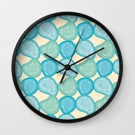Beach Pebbles Pattern Wall Clock