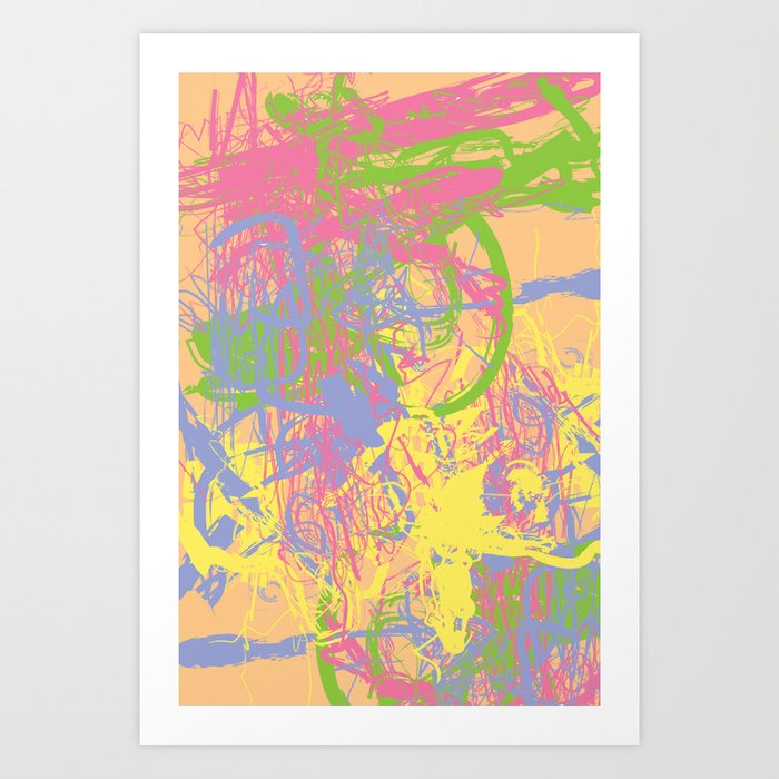 Complex 1 | Soft Pastel Abstract Art | Pastel Wall Art Art Print by ...