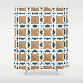 Circles with lens pattern and Diamond Shower Curtain