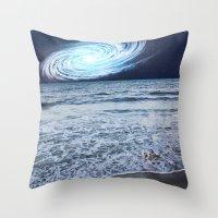 rileigh smirl Throw Pillows featuring Galaxy Sky by Rileigh Smirl