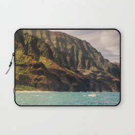 Na Pali Coast Kauai Hawaii Printable Wall Art | Tropical Beach Nature Ocean Coastal Travel Photography Print Laptop Sleeve