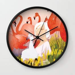 13 Flamencos Wall Clock