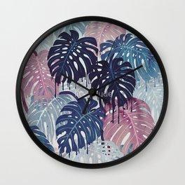 Monstera Melt Wall Clock