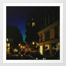 Paris by Night V Art Print