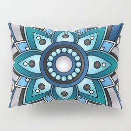 Vibrant Blue Mandala Pillow Sham