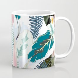 Trendy fashion tropics. Vector illustration print Coffee Mug