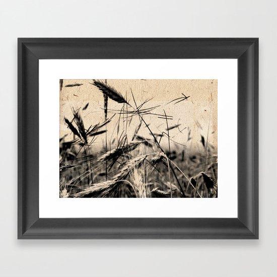 DRESSED GRAIN Framed Art Print