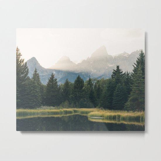Morning at the lake Metal Print
