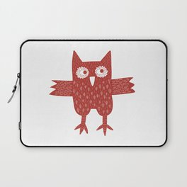 Red Owl Illustration Laptop Sleeve
