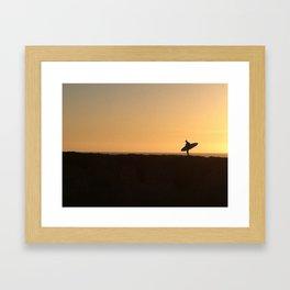 Santa Cruz Surfer Framed Art Print