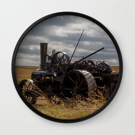 Steam Traction Engine Wall Clock