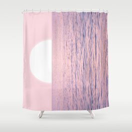 Pink on the Sea Shower Curtain