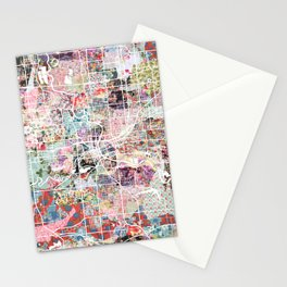 Des Moines map Stationery Cards