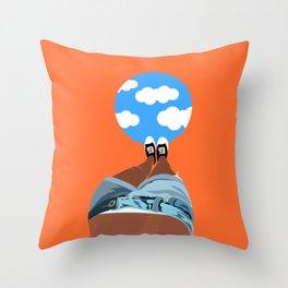 Sky under my feet Throw Pillow