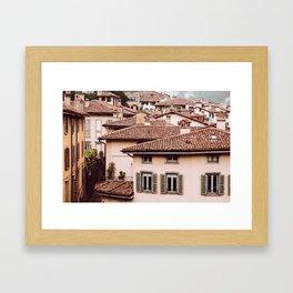 Bergamo rooftops Framed Art Print