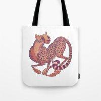 cheetah Tote Bags featuring Cheetah by Anya McNaughton