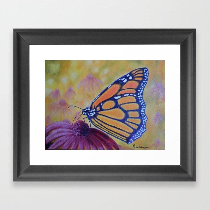 King of butterfly   Le roi des papillons Gerahmter Kunstdruck