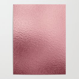 Pure Rose Gold Pink Poster