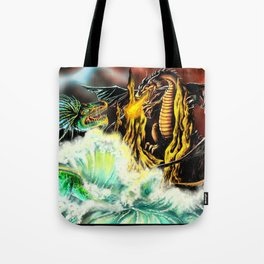 Land vs. Sea Tote Bag