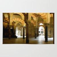 spain Area & Throw Rugs featuring Toledo Spain by Rosie Brown