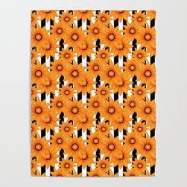 Yellow sunflowers . Poster
