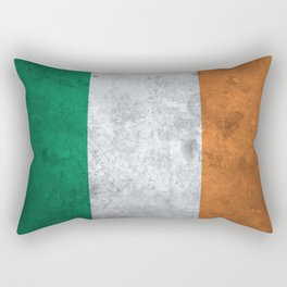 Distressed Irish Flag Rectangular Pillow