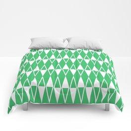 Mid Century Modern Diamond Pattern Green 234 Comforters