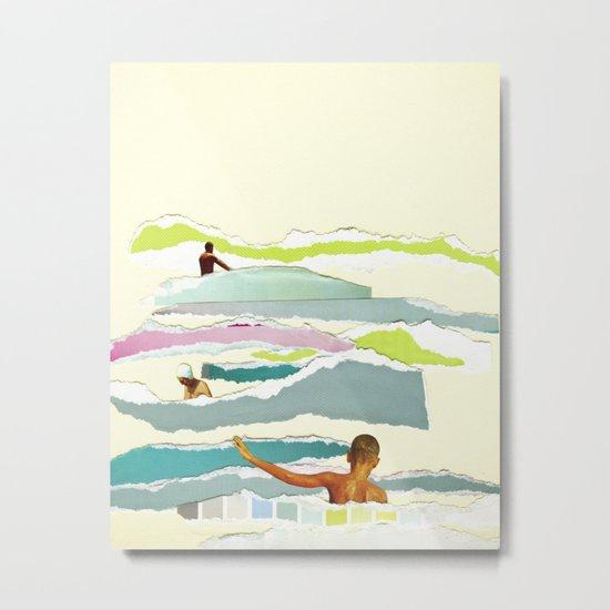 Sun and Surf Metal Print