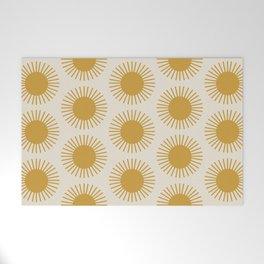Golden Sun Pattern Welcome Mat