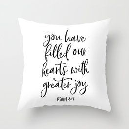 YOU HAVE FILLED OUR HEARTS by DearLilyMae Throw Pillow