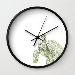Tortoise Shell Wall Clock