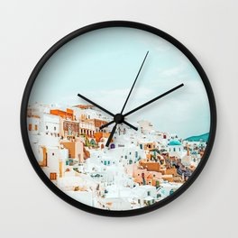 Travelers || #photography #greece Wall Clock