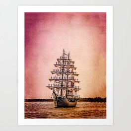 Tall ship Gloria Art Print
