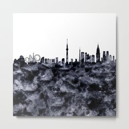 Tokyo Skyline Japan Metal Print