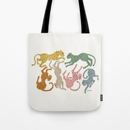 Rainbow Cheetah Tote Bag