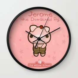 Jerome the Distracted Pig Wall Clock