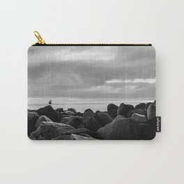 Morro Bay Black & White Carry-All Pouch
