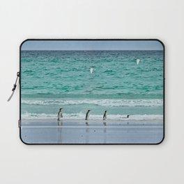 Falkland Island Seascape with Penguins Laptop Sleeve