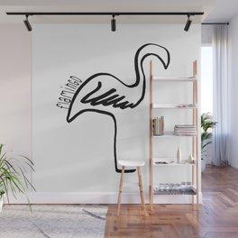 One Line Flamingo Wall Mural