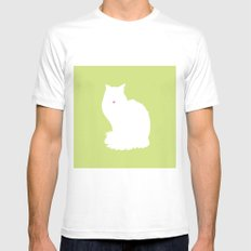 Cat Silhouettes: Turkish Van White Mens Fitted Tee MEDIUM